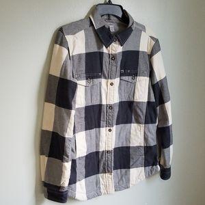 Carhartt Fleece Lined Flannel Shirt Size 8/10